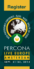 Percona Live Europe, Data Performance Conference Amsterdam, September 21-23, 2015